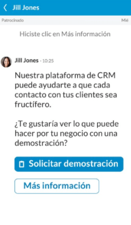 Conversation Ad example of LinkedIn Ads