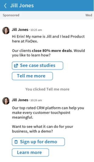 Conversation Ad: having a conversation with your target audience